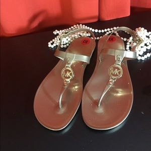 Michael Kors jelly sandals. Gold size 10 New